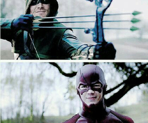 arrow, flash, and oliver queen image