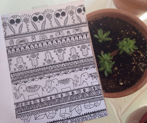 doodle, plant, and tumblr image