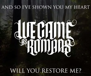 band, we came as romans, and music image