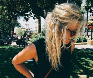 beauty, hair, and waves image