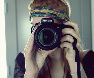 camera, girl, and sony image