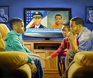 malcolm x, mike brown, and martin luther king image