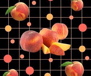 peach, grid, and orange image