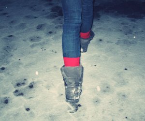 boots, red, and skinny image
