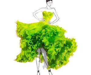 dress, lettuce, and art image