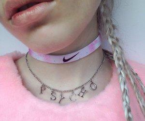 pink, nike, and grunge image
