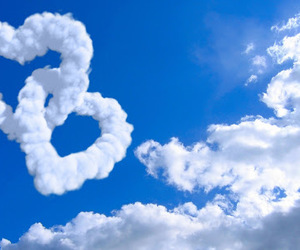 love, clouds, and sky image