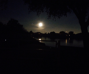 arizona, pond, and moon image