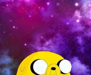 JAKe, galaxy, and adventure time image