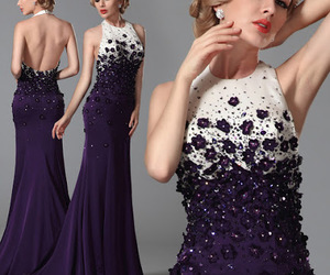 dress, party, and purple image