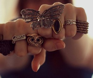 hands, owl, and ring image