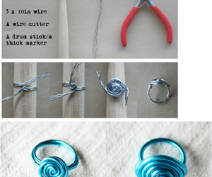 blue, diy, and ring image