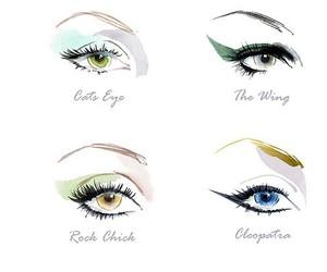 eyes, make up, and eyeliner image