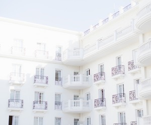white, building, and pale image