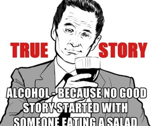 alcohol, funny, and text image