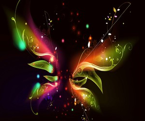 abstract, art, and butterflies image