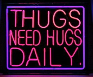 hug, thug, and quotes image