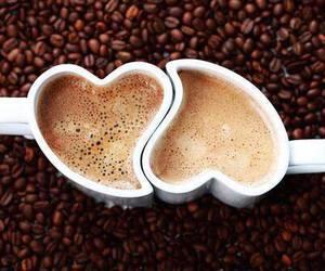coffee, love, and heart image