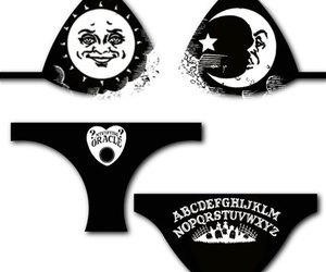 bikini, gothic, and black craft image