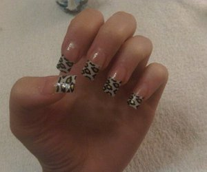 leopard print and nails image