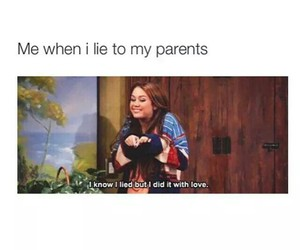 funny, lies, and parents image