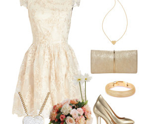 dresses, gold, and party image