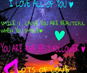 follower, thanks, and love you image