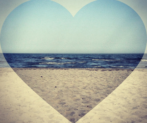 sea, summer, and heart image