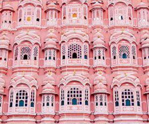 pink, architecture, and india image