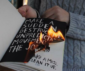 fire, wreck this journal, and art image