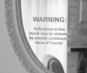 mirror, beauty, and warning image