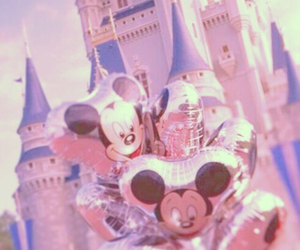 disney, balloon, and castle image