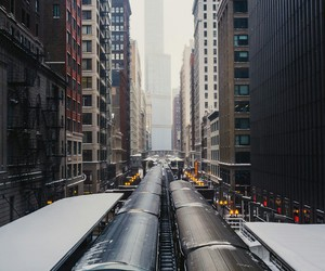 city, train, and photography image