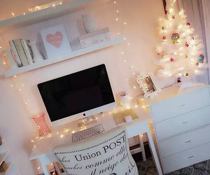 room, light, and christmas image
