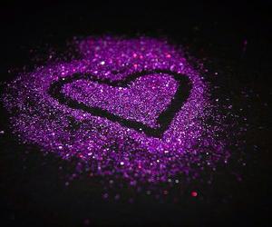 purple, heart, and glitter image