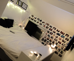 bed, bedroom, and black&white image