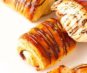 bread, croissants, and food image