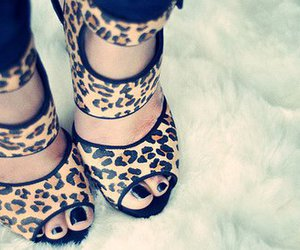 heels and leopard print image