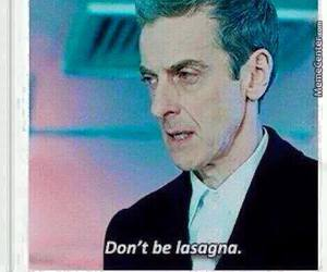 doctor who, lasagna, and funny image