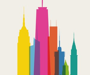 new york, city, and art image