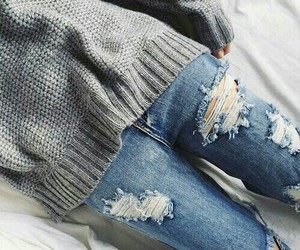 jeans, ❤❤❤, and sweather image