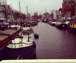 amsterdam, boat, and canals image