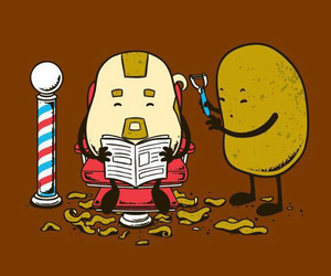 funny and potato image