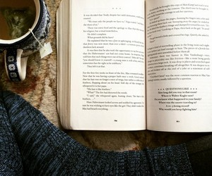 book, hipster, and tea image