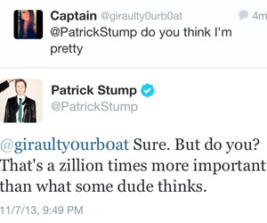 fall out boy, patrick stump, and twitter image