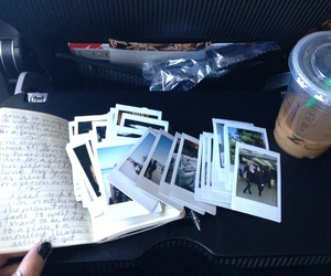 photo, polaroid, and starbucks image