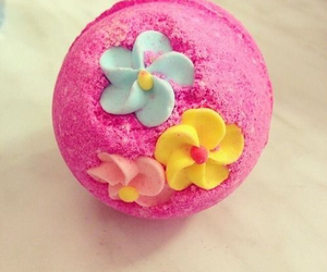 flowers, pink, and bath bomb image