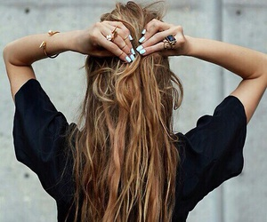 hair, nails, and black image