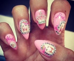 barbie, unhas, and nail art image