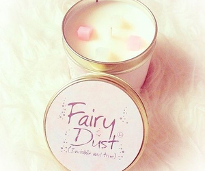 pink, candle, and fairy image